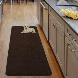 Ottomanson Luxury Collection Solid Runner Rug with Non-Slip/