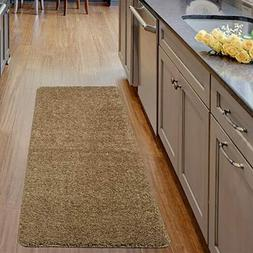 Luxury Collection Solid Runner Rug with Non-Slip/Rubber-Back