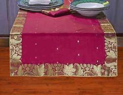 Maroon - Hand Crafted Table Runner