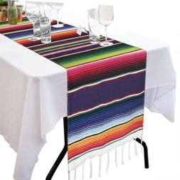Mexican Table Runners Striped Serape Tablecloth for Wedding