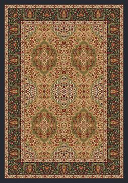 Milliken Ivory Traditional-European Leaves Area Rug Floral S