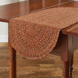 """New Table Runner 13"""" x 36"""" Allspice Braided by Park Designs"""