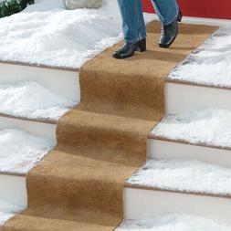 "Collections Etc No Slip Ice Carpet Outdoor Runner 18"" WIDE"