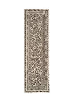"""Heritage Lace OAK LEAF 14""""x48"""" Table Runner in Café - Fall,"""