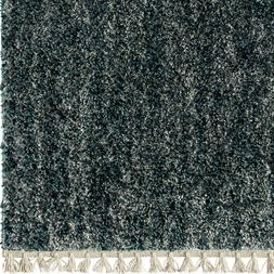 Orian Rugs Bedouin Solid Indigo Area Rug or Runner with Frin