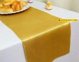 Gfcc Pack Of 10 Gold Satin Table Runner 12 X 108 Inches For