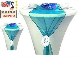 mds Pack of 10 Wedding 12 x 108 inch Organza Table Runners f