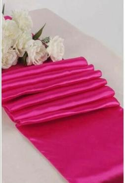 pack of 10 wedding 12 x 108 inch satin table runners. Magent