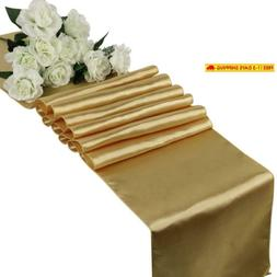 Mds Pack Of 10 Wedding 12 X 108 Inch Satin Table Runner For