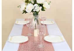 pack of 20 sequin table runners 12