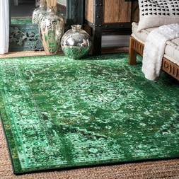 persian overdyed vintage traditional distressed area rug