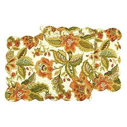 "Quilted 14"" x 51"" Reversible Table Runner, Amelia"