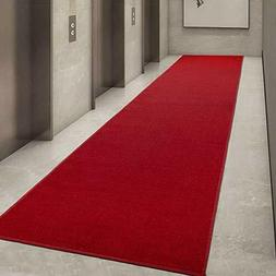 Red Carpet Aisle Runner Rug Kitchen Event Hallway Foyer Wedd