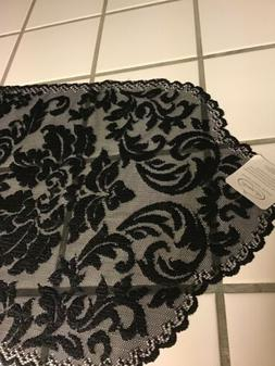"HERITAGE LACE RUNNER ""BLACK DAMASK"" with Tag"