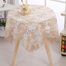 Rustic Lace Floral Table Runner Table Cloth/mat For Wedding