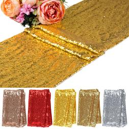 Sequin Glitter Table Runner Cloth Wedding Banquet Party Deco