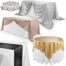 Sequin Sparkly Table Covers Wedding Party Linens Tablecloths