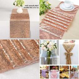Sequin Table Runner ROSE GOLD Sparkly Perfect For Wedding Ba