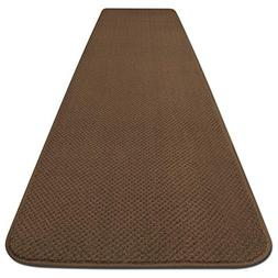 House, Home and More Skid-resistant Carpet Runner - Toffee B
