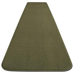 Skid-resistant Carpet Runner - Olive Green - 8 Ft. X 27 In.