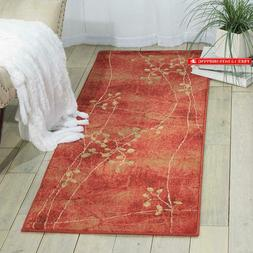 Nourison Somerset Flame Runner Area Rug, 2-Feet 3-Inches By