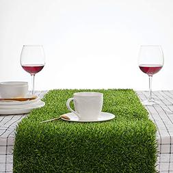 Synthetic Grass Table Runner 14 x 48 inch Perfect Spring Fal