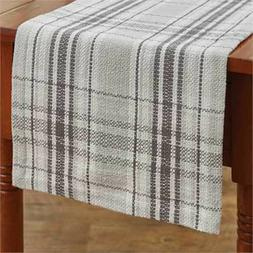 """Table Runner 36"""" - Collin by Park Designs - Gray Off White -"""