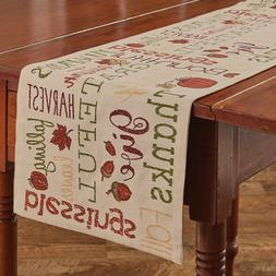 "Table Runner 36"" - Harvest Sentiments by Park Designs - Fall"