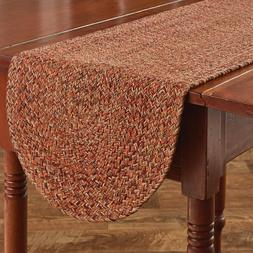 """Table Runner 54"""" - Allspice Braided by Park Designs - Thanks"""