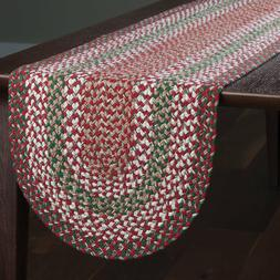 """Table Runner 36"""" - Holly Berry Braided by Park Designs - Chr"""