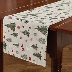 """Table Runner 54"""" - Woodland Christmas by Park Designs - Card"""