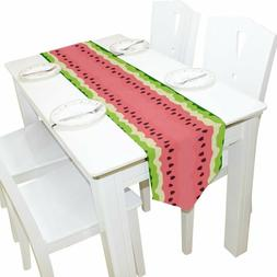 ALAZA Table Runner Home Decor, Stylish Summer Fruits Waterme