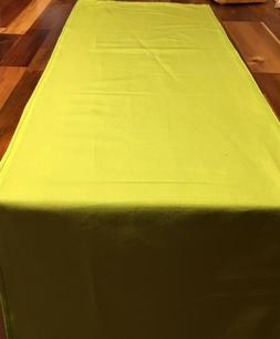 Table Runner Handmade Lime Green Cotton Fabric 24 Sizes to C