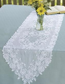 "Heritage Lace TEA ROSE Table Runners 72"" - 2 Colors"