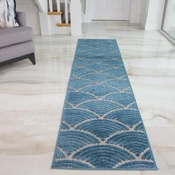 Teal Outdoor Rugs | Blue Coastal Hallway Runner Rugs | Indoo