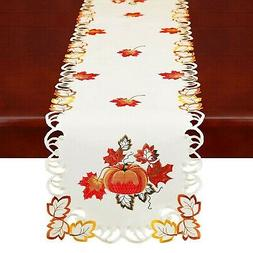 Simhomsen Thanksgiving Harvest Pumpkins Table Runners for Au