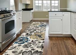 Throw Rug Long Runner Floral Living Room Kitchen Hall Area F