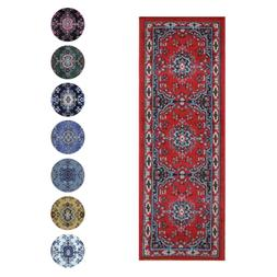 traditional oriental medallion rug 2x7 persian style
