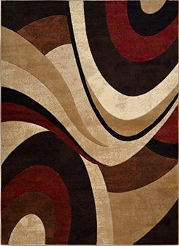 """Home Dynamix Tribeca Slade 1'9""""x7'2"""" Area Rug in Brown/Red"""