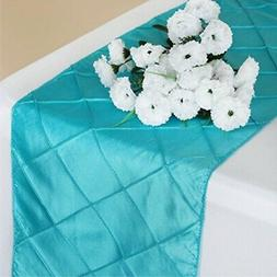 turquoise fancy pintuck table runner
