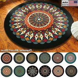 wool round small area rug traditional throw